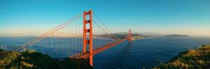 Golden Gate Bridge Panorama in San Francisco as the Famous Landmark. by Songquan Deng