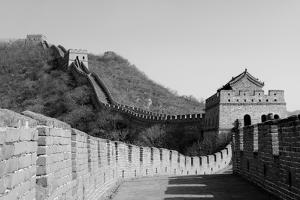 Great Wall in Black and White in Beijing, China by Songquan Deng
