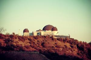 Griffith Observatory over Mountain in Los Angeles. by Songquan Deng