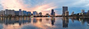Orlando Downtown Lake Eola Panorama with Urban Buildings and Reflection by Songquan Deng