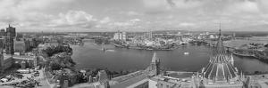 Ottawa Cityscape Panorama in the Day over River with Historical Architecture Black and White. by Songquan Deng