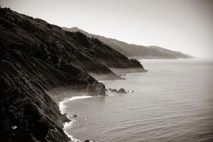 Seascape in Big Sur in California in Black and White. by Songquan Deng