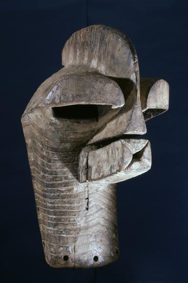 Songye wooden mask, Katanga region, DR Congo, 20th century-Werner Forman-Photographic Print