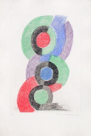 Rythmes colorés by Sonia Delaunay-Terk