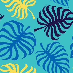 Seamless Pattern with Tropic Leaves of Monstera by sonia eps