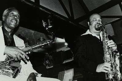 Sonny Stitt and Red Holloway Playing at the Bell, Codicote, Hertfordshire, 24 November 1980-Denis Williams-Photographic Print