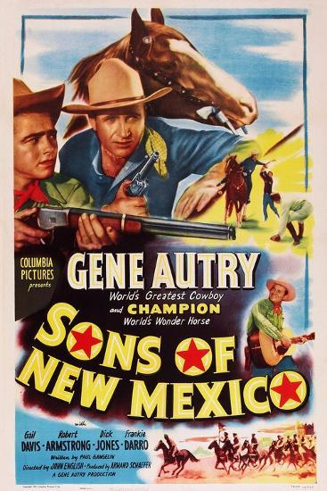 Sons of New Mexico, Top Center and Bottom Right: Gene Autry, 1949--Art Print
