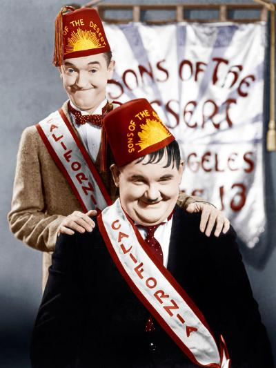 SONS OF THE DESERT, from left: Stan Laurel, Oliver Hardy, (aka Laurel & Hardy), 1933--Photo