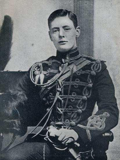 'Soon he was a dashing subaltern in the 4th Hussars', 1895, (1945)-Unknown-Photographic Print