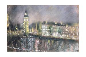 Big Ben, from the South Bank, 1995 by Sophia Elliot