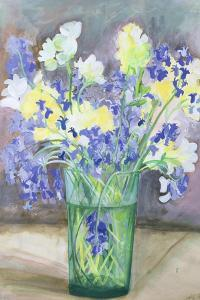 Bluebells and Yellow Flowers, 1994 by Sophia Elliot