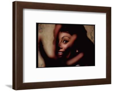 Sophia Loren on Location for Lady L-Gjon Mili-Framed Premium Photographic Print