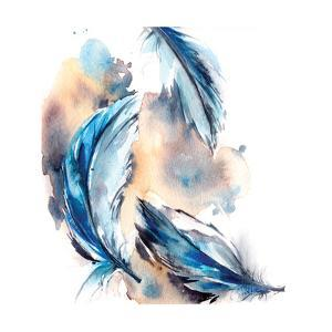 Blue Feathers by Sophia Rodionov