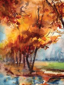 Fall Landscape by Sophia Rodionov