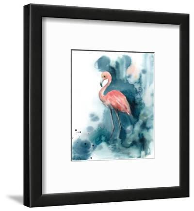Pink and Blue Flamingo