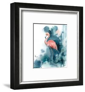 Pink and Blue Flamingo by Sophia Rodionov