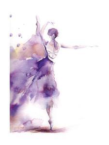 Purple Ballerina II by Sophia Rodionov