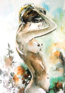 Watercolor Nude by Sophia Rodionov