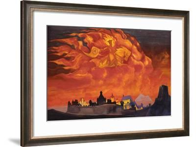 Sophia - the Wisdom of the Almighty (Santa Protectri), 1932-Nicholas Roerich-Framed Giclee Print