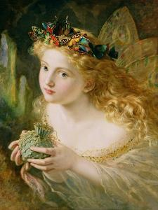 Take the Fair Face of Woman, and Gently Suspending, with Butterflies, Flowers, and Jewels Attending by Sophie Anderson