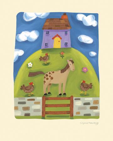 Purple Farmhouse by Sophie Harding