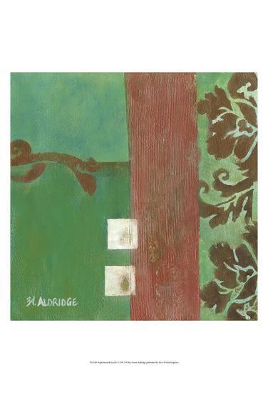 Sophisticated Scroll I-W^ Green-Aldridge-Art Print
