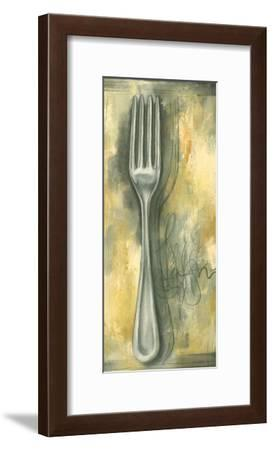 Sophisticated Silver I-Laura Nathan-Framed Art Print