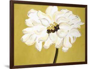 White Flower on Ochre by Soraya Chemaly
