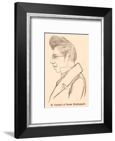 Soren Aabye Kierkegaard Danish Philosopher--Framed Giclee Print