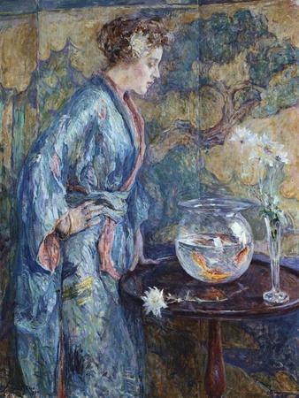 Girl in Blue Kimono, 1911