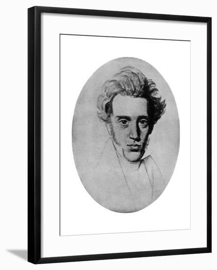 Soren Kierkegaard, Danish Philosopher and Theologian, C1840-Niels Christian Kierkegaard-Framed Giclee Print