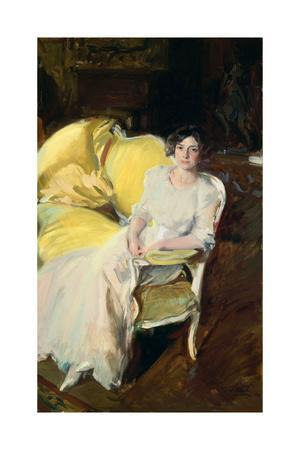Clotilde Sitting on the Sofa, 1910, Oil on canvas, 180 x 110 cm