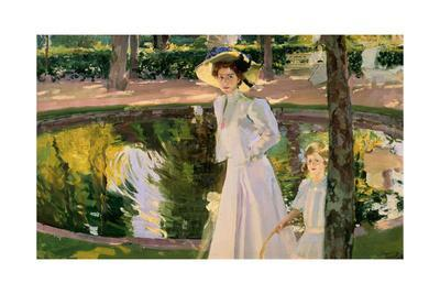 Marian in the Gardens, La Granja, 1907, Oil on canvas