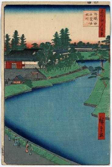 Sotosakurada Benkeibori Kojimachi-Utagawa Hiroshige-Giclee Print