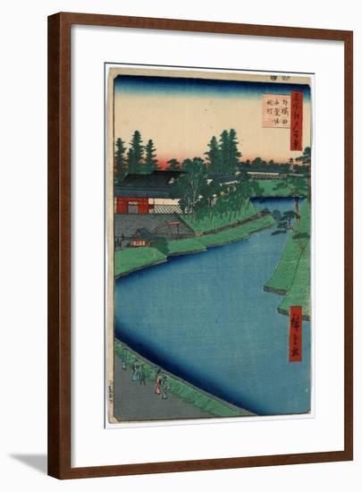 Sotosakurada Benkeibori Kojimachi-Utagawa Hiroshige-Framed Giclee Print