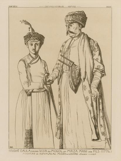 Soudiat Daula, Grand Vizier of the Mongols and His Son, Mirza Mani--Giclee Print