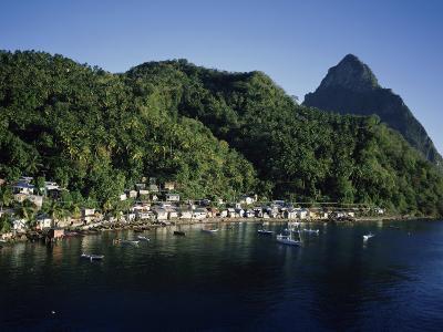 Soufriere, Petit Piton, St. Lucia--Photographic Print