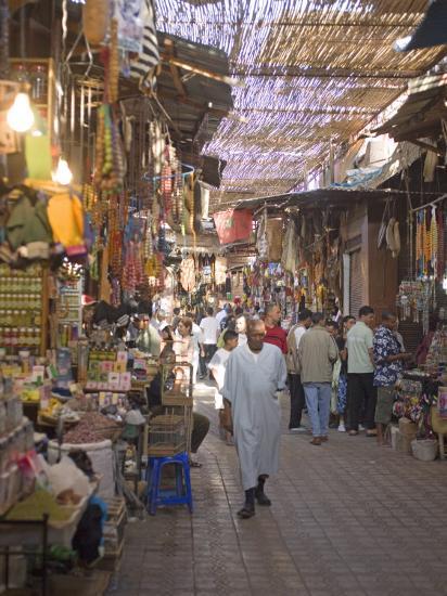 Souk, Marrakech, Morocco, North Africa, Africa-Marco Cristofori-Photographic Print