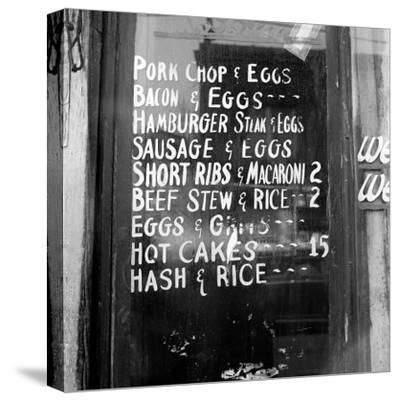 Soul Food; Menu in the Window of a Restaurant, Detroit, Michigan, 1940