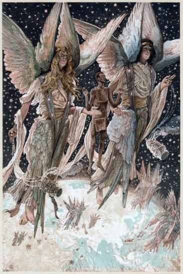 Soul of the Penitent Thief Carried into Paradise by Angels with Burning Censers, 1897-James Jacques Joseph Tissot-Giclee Print