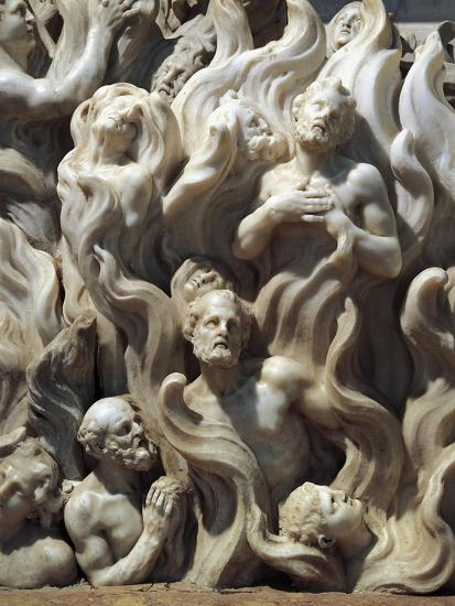 Souls in Purgatory, Detail from Relief Decorated Altar-Giuseppe Bernardi-Giclee Print