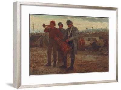 Sounding Reveille, 1865-Winslow Homer-Framed Giclee Print