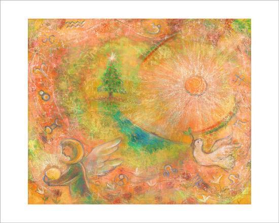 Sounds in the Universe: Dove Tree, and Sun-Miyuki Hasekura-Giclee Print