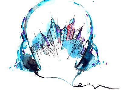 Sounds of City-okalinichenko-Art Print
