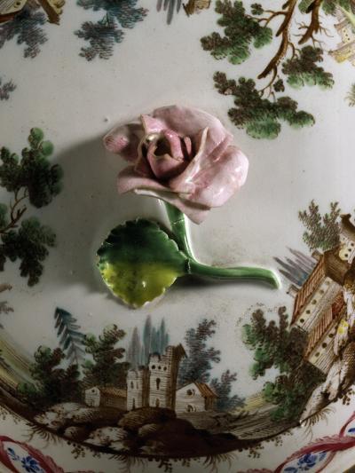 Soup Bowl Lid, 1790, Porcelain, Ginori Manufacture, Doccia, Sesto Fiorentino, Tuscany--Giclee Print