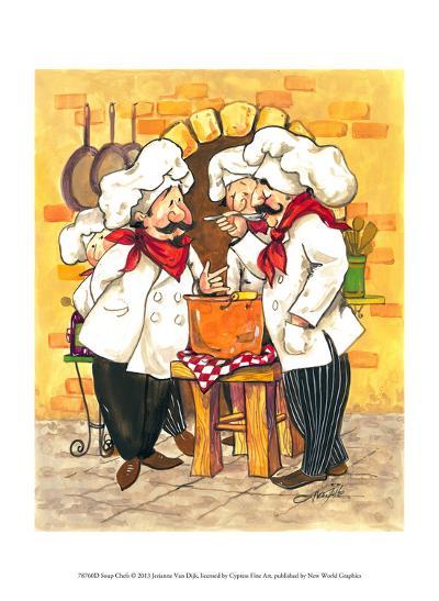 Soup Chefs-Jerianne Van Dijk-Art Print