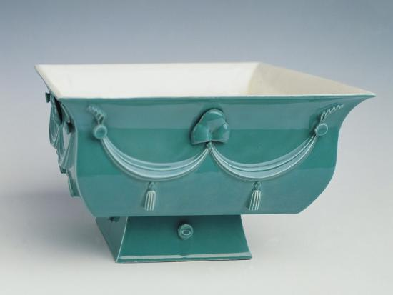Soup Tureen with Turquoise Exterior Decorated in Relief-Dagobert Peche-Giclee Print