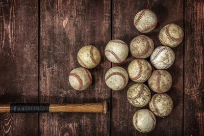Old Vintage Baseball Background.