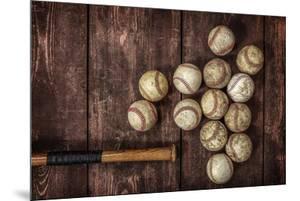 Old Vintage Baseball Background. by soupstock