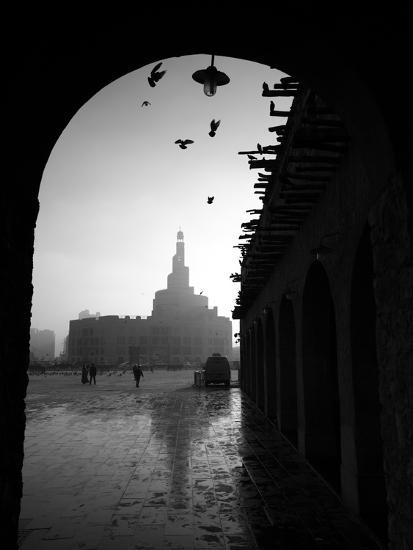 Souq Waqif in Doha  Qatar, Middle East - Flying Doves - Main Market Yard  Photographic Print by Ahmed Adly | Art com